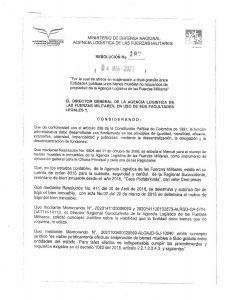 Agencia Logística de las Fuerzas Militares ofrece Enajenación a Título Gratuito- Resolución No. 197 del 4 de marzo de 2021